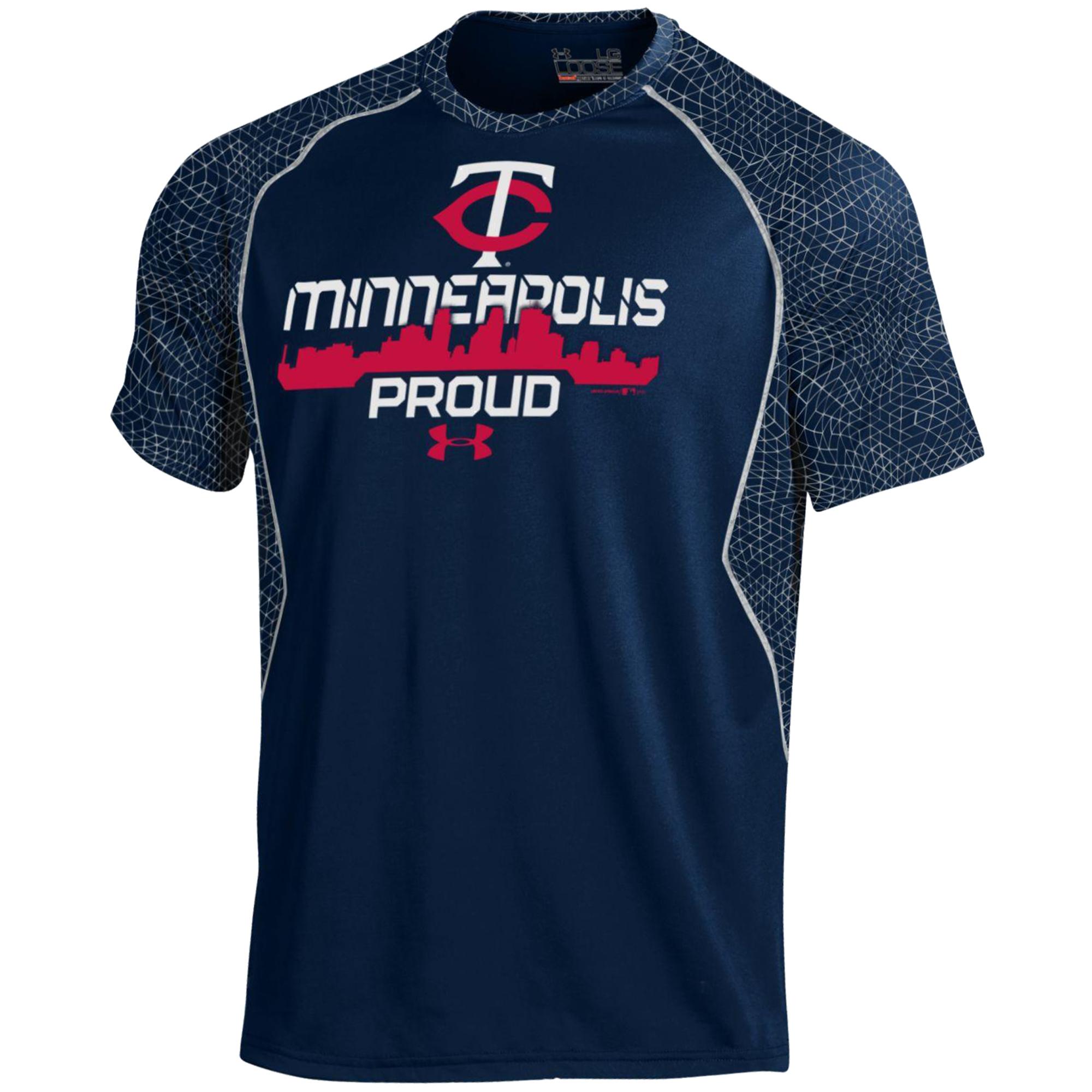 Minnesota Twins Under Armour Apex Print Performance T-Shirt - Navy