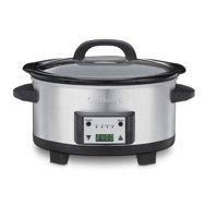 Cuisinart 6.5-Quart Programmable Slow Cooker (Refurbished), Brushed Stainless