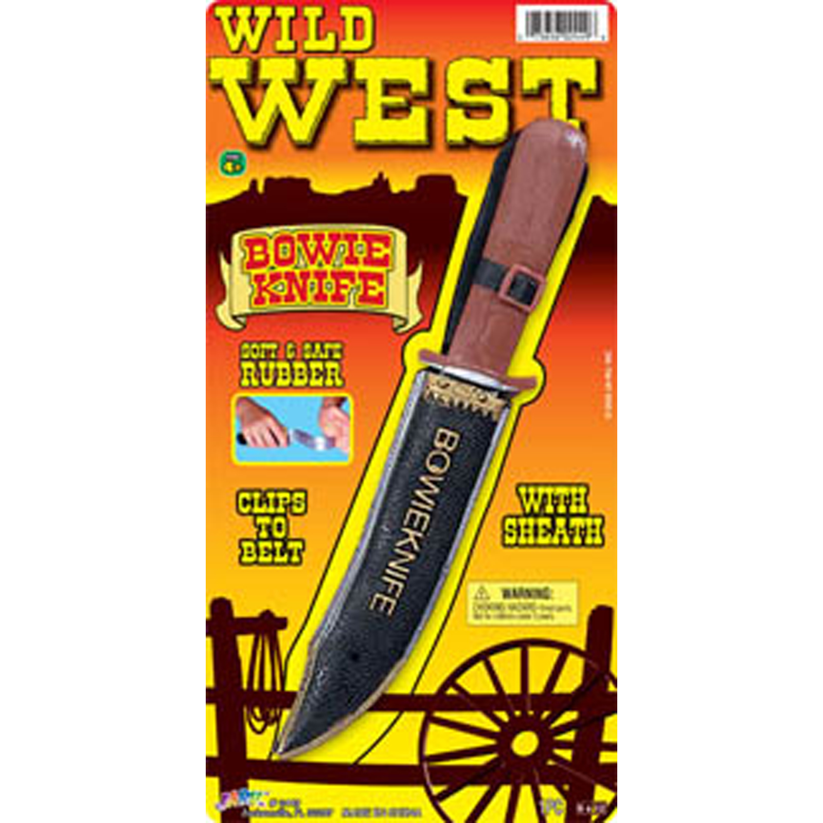 Wild West Bowie Knife - 1 Pkg