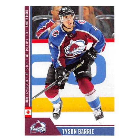 2018-19 Panini NHL Stickers #337 Tyson Barrie Colorado Avalanche Hockey Card ()