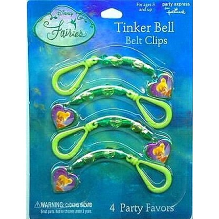 tinker bell belt clips / favors (4ct)