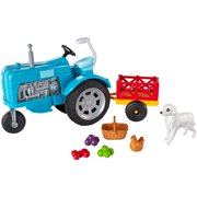 Barbie Sweet Orchard Farm Toy Tractor And Wagon Playset With 2 Animals And More