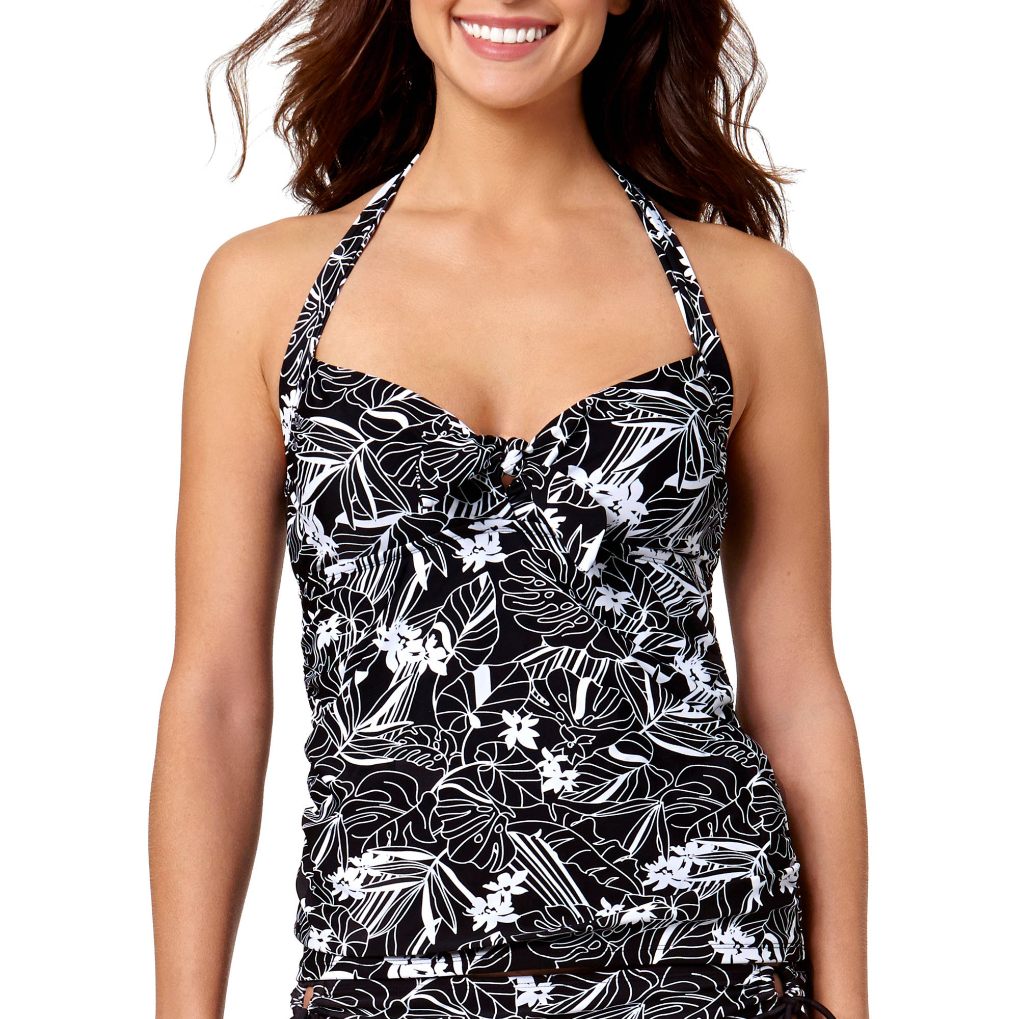 Collections By Catalina Women's Tropical Sketch Tankini Top
