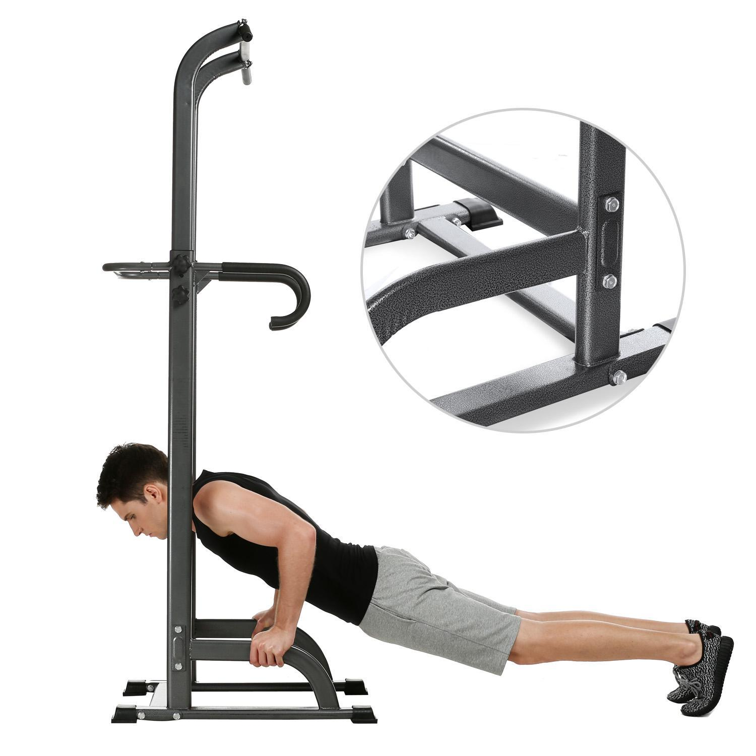 Fitness Power Tower Pull Up Bar Strength  Adjustable Chin...
