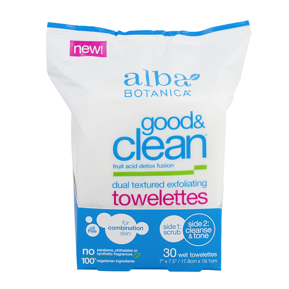 Alba Botanica Good & Clean Towelettes - 30 CT