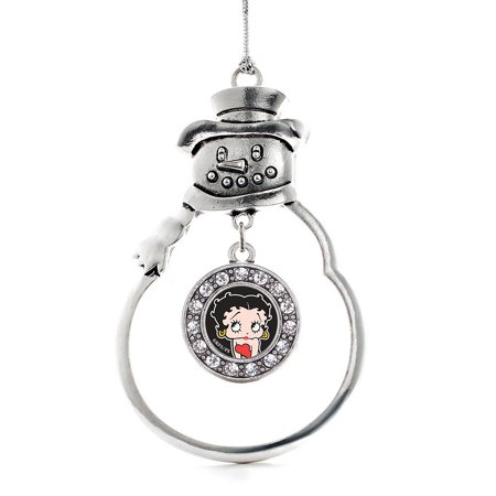 Betty Boop Circle Snowman Holiday Ornament