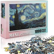Puzzles 1000 Pieces Jigsaw Puzzles for Adults Kids -Starry Night by Van Gogh Art Puzzles