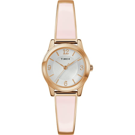 Women's Stretch Bangle 25mm Blush/Rose Gold-Tone Watch, Expansion Band (Dkny Womens Stainless Steel Bangle Watch)