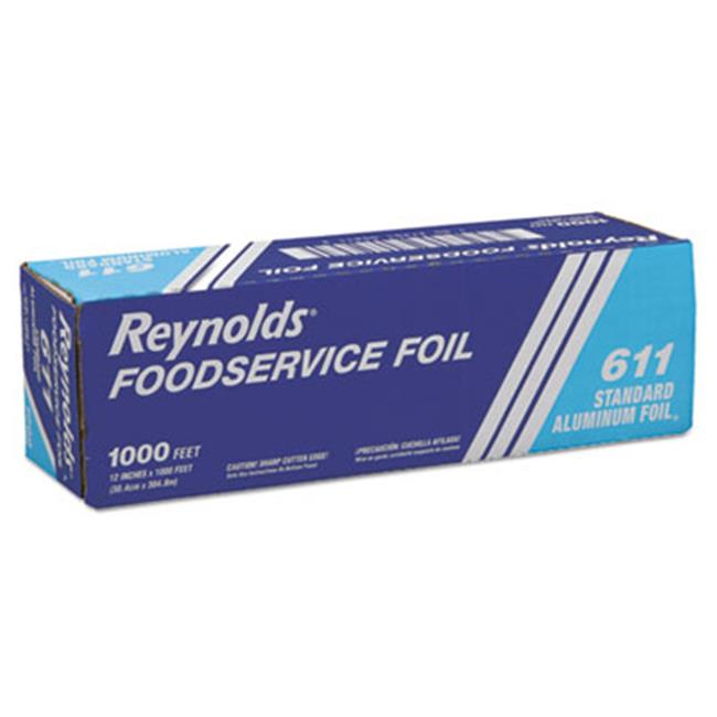 Rfp 611M Metro Aluminum Foil Roll, Lighter Gauge Standard, 12 in. x 1000 ft., Silver