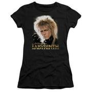 Labyrinth Jareth Juniors Short Sleeve Shirt