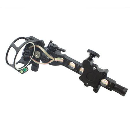 - SAS 7-pin .019-inch Bow Sight with Micro Adjust Detachable Bracket LED Sight Light