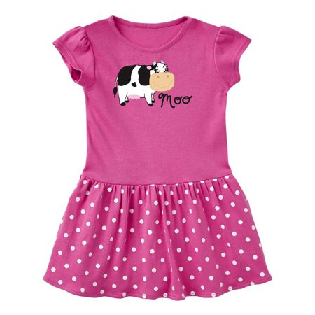 Moo says the cow Toddler Dress