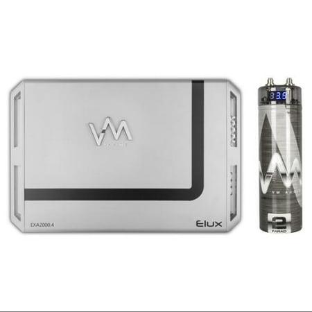 VM Audio EXA2000.1 2000W Mono AB Car Amplifier Power Amp + 2.0 Farad Capacitor