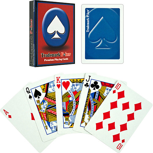 Trademark Poker Premium Playing Cards, Blue, 6-Pack by Trademark Global LLC