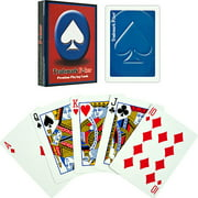 Trademark Poker Premium Playing Cards, Blue, 6-Pack