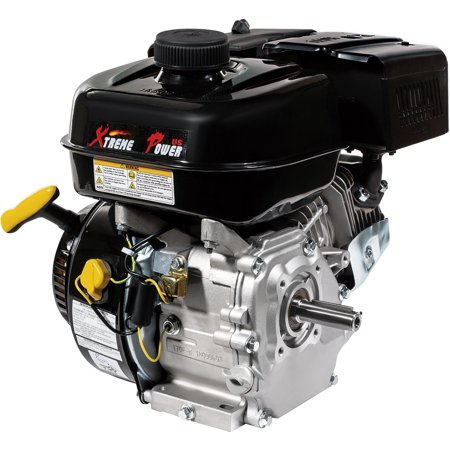 XtremepowerUS 7HP 4-Stroke OHV Industrial Grade Gasoline Engine w/ Recoil Start Go Kart Log Splitter Lifan Type Engine 212CC,