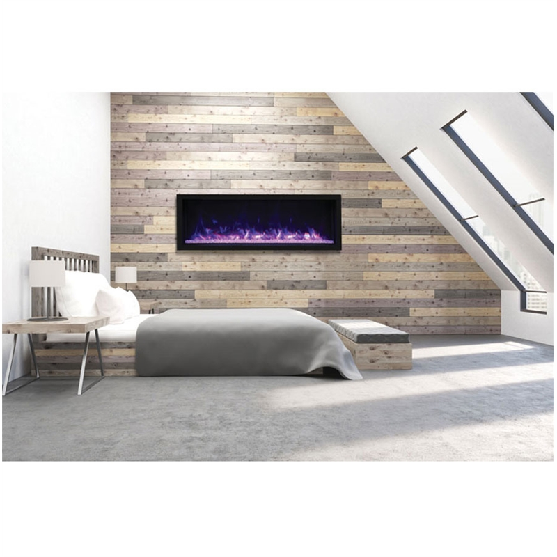 """Maklaine 65"""" Extra Tall Indoor / Outdoor Electric Fireplace"""