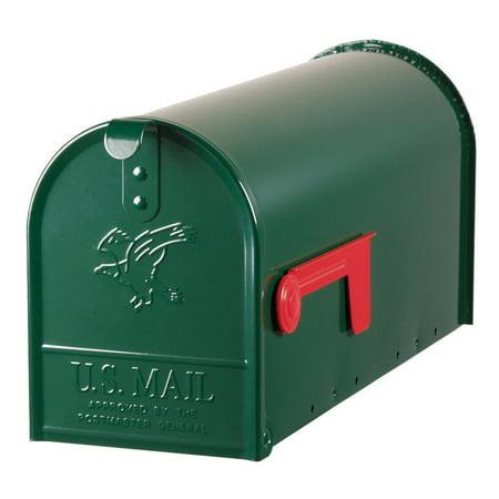 Gibraltar Elite Galvanized Steel Post Mounted Hartford Green Mailbox 8-3/4 in. H x 6-7/8 in. W x 20 in. L ()