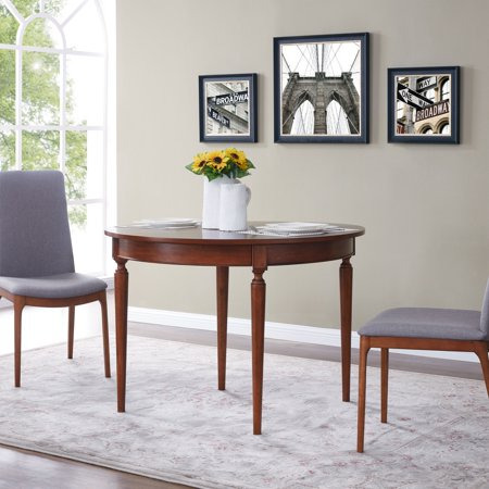 Southern Enterprises Ricoane Convertible Console to Dining Table, Modern Farmhouse Style, Dark Sienna