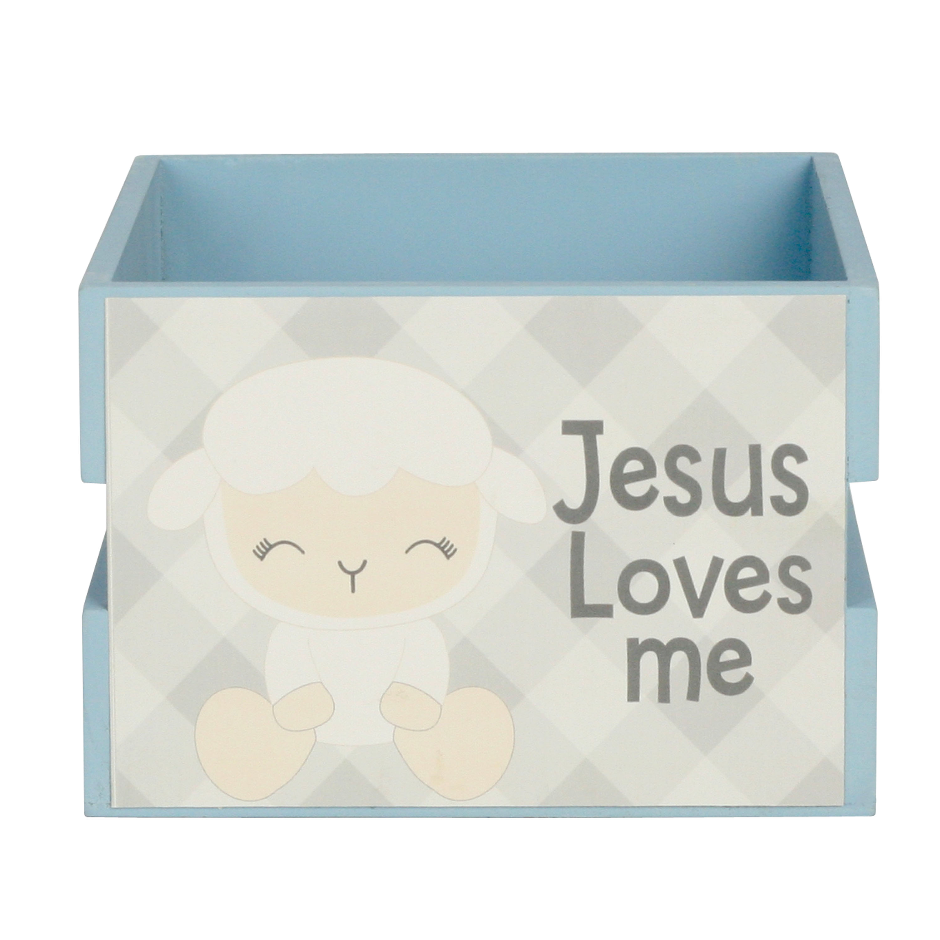"""Way to Celebrate 3.5"""" My First Easter Wood Crate Décor- Lamb"""