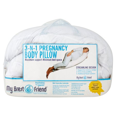 My Brest Friend 3-N-1 Pregnancy Body Pillow Maximum Support-Minimum Bed Space