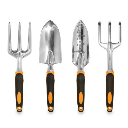 Tool Trowel (Ergonomic Garden Tools 4 Piece Tool Set with Trowel, Cultivator, Transplanter and Weeding)