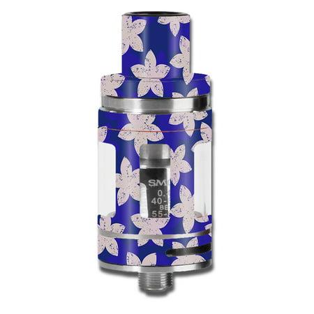 Satin Flowered (Skins Decals For Smok Micro Tfv8 Baby Beast Vape Mod / Flowered Blue )