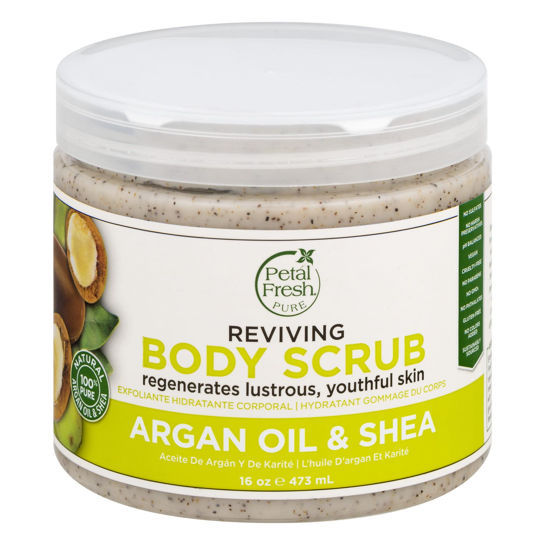 Petal Fresh Pure Argan Oil & Shea Reviving Body Scrub, 16 oz
