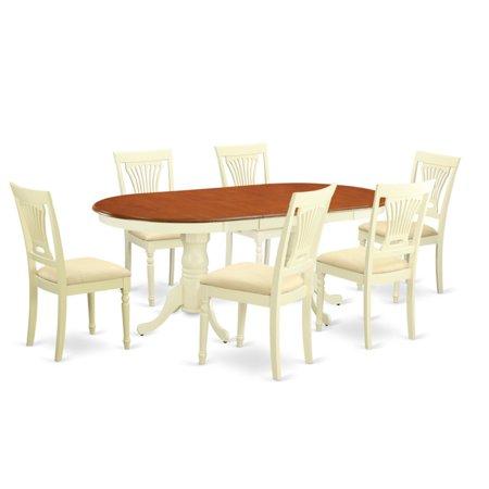 East West Furniture Plainville 7 Piece Empire Dining Table Set