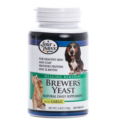 Four Paws Brewers Yeast with Garlic Flavor 250 Tabs
