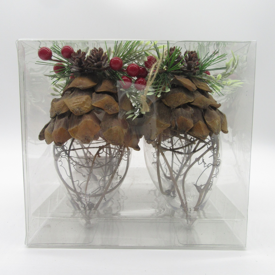 Holiday Time 4pk Pincone Drop Ornament