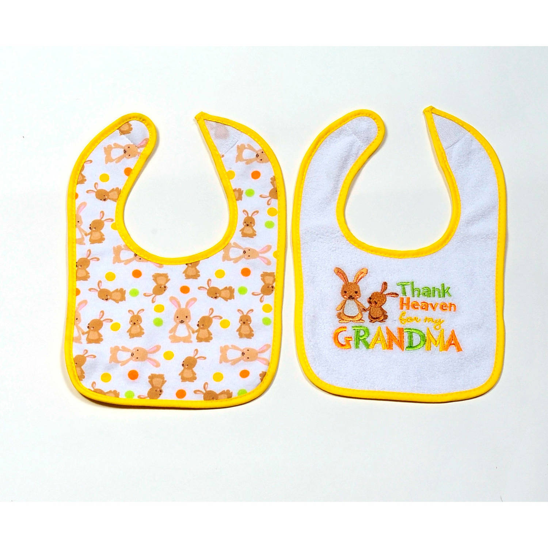 Parent's Choice Grandma Neutral Bib, 2-Pack