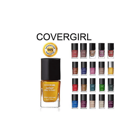 5 Pack: CoverGirl Outlast Stay Brilliant Nail Gloss Color Polish Cover Girl Pink Nail Polish