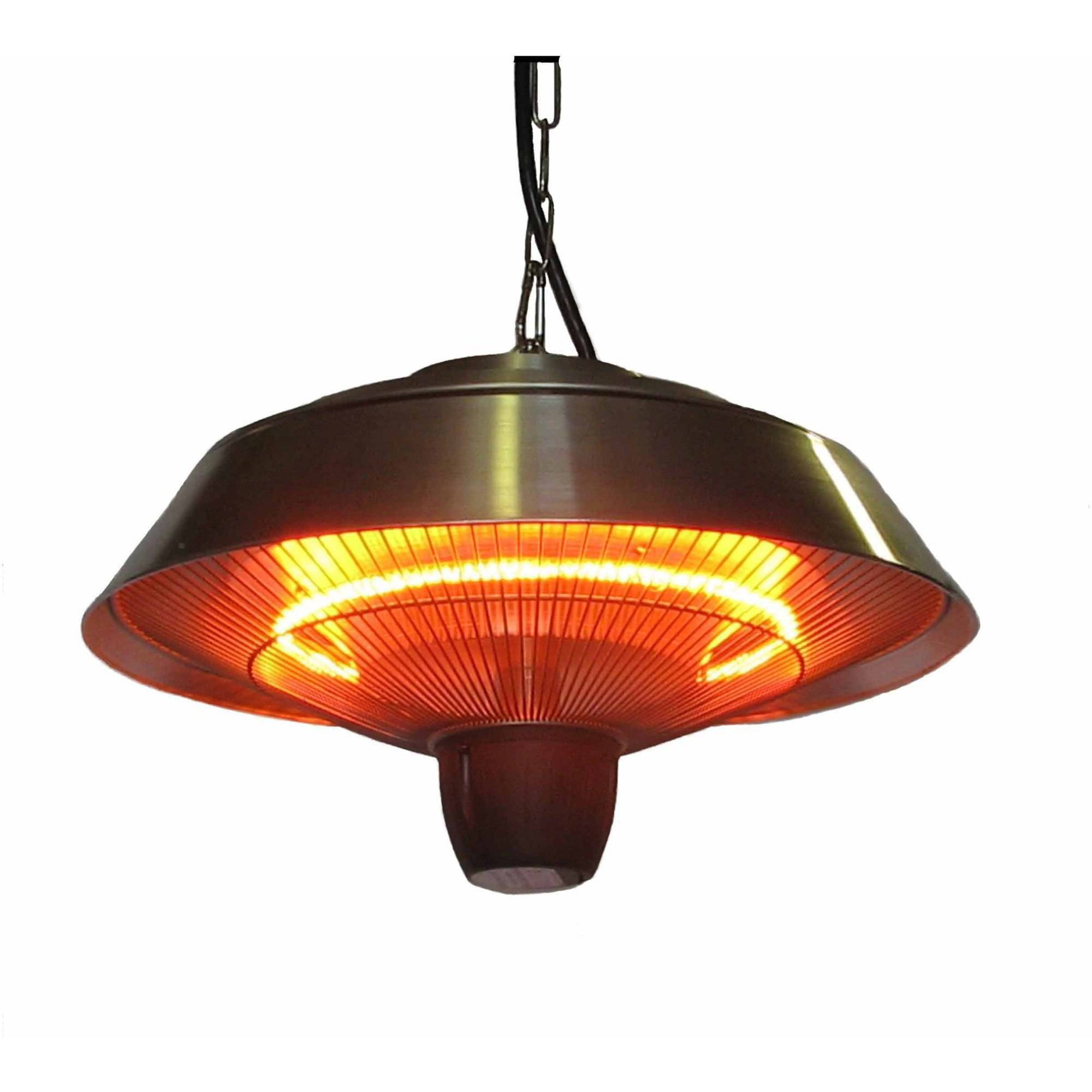 energ 1500watt hanging electric infrared gazebo heater brushed aluminum walmartcom - Electric Heaters Lowes