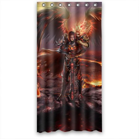 Ganma Might magic heroes vi inferno Shower Curtain Polyester Fabric Bathroom Shower Curtain 36x72 (Heroes Of Might And Magic 3 Creature Amounts)