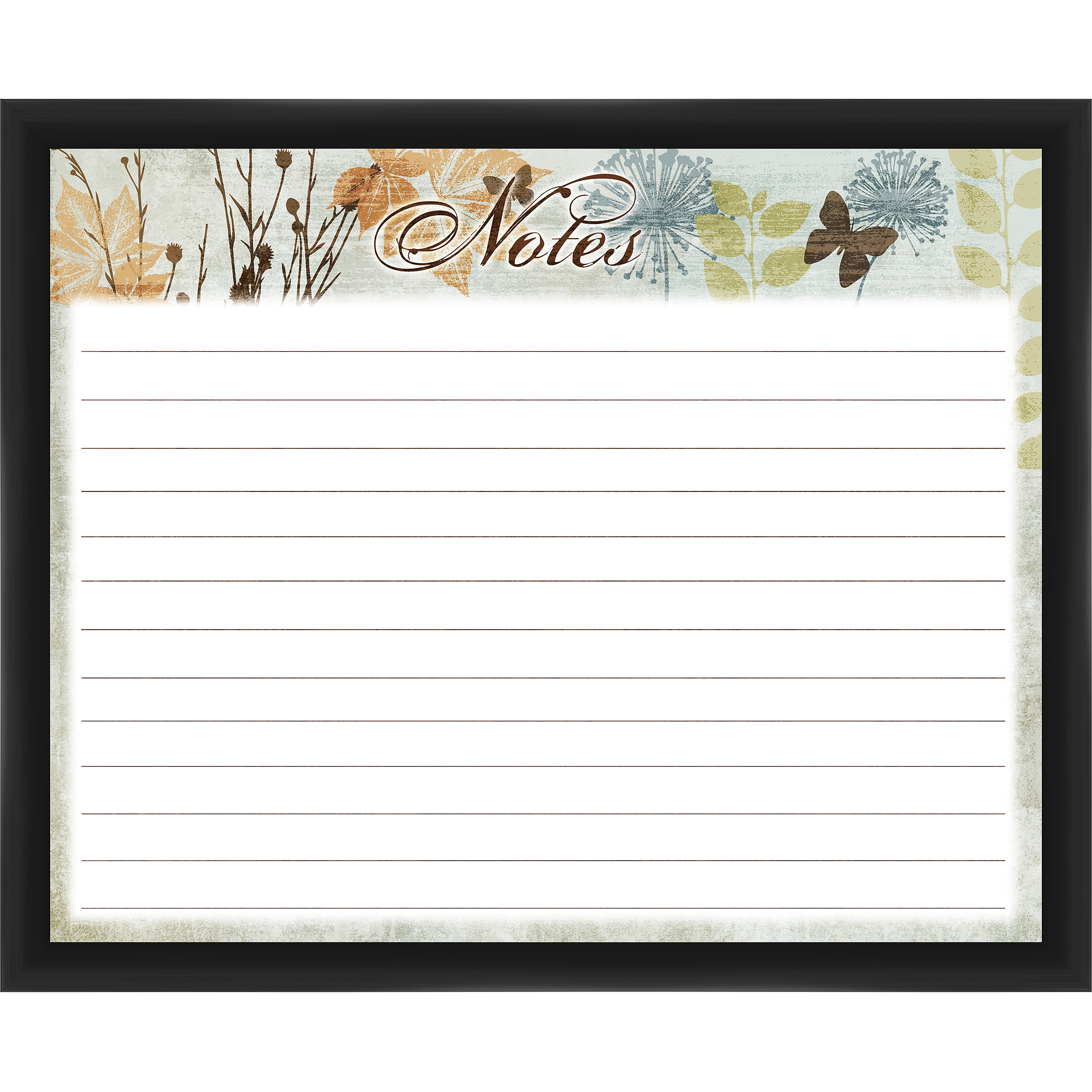 Grain Notes Black Memoboard