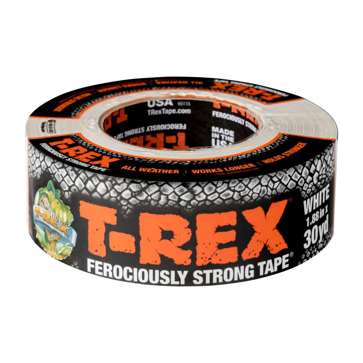 "T-REX Ferociously Strong Repair Tape, 1.88"" x 30 yds, White"