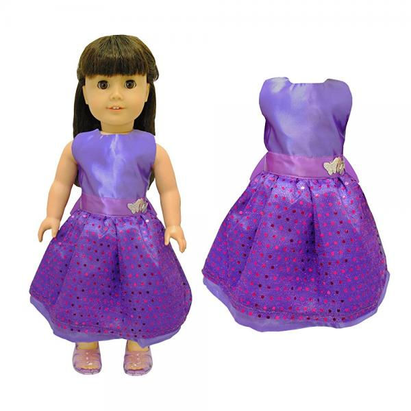 Beautiful Purple Princess Dress Outfit Doll Clothes Accessories Fits American Girl My... by
