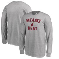 5188e8f5 Product Image Miami Heat Fanatics Branded Youth Victory Arch Long Sleeve T- Shirt - Heathered Gray