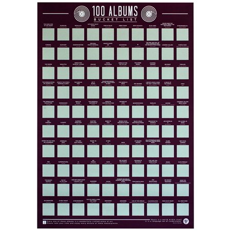 Gift Republic Bucket List Poster 100 Albums