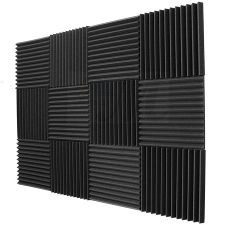 "12 Pack Acoustic Panels Studio Foam Wedges 1"" X 12"" X 12"""