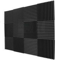 Deals on 12 Pack Acoustic Panels Studio Foam Wedges 1X12X12-inch