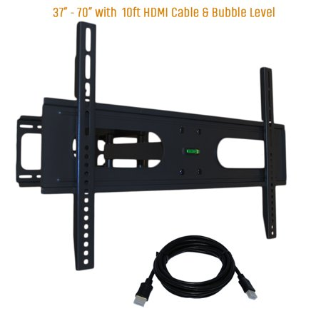 Articulating TV Wall Mount 37-70″ VESA 600 x 400 includes 10ft. HDMI Cable with LIFETIME WARRANTY (KORAMZI KWM1278) – Black