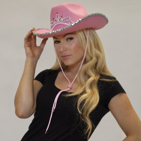 FlashingBlinkyLights Light Up Country Western Pink Cowgirl - Foam Cowgirl Hats