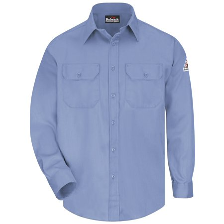 Bulwark FR Light Blue Uniform Shirt - 6oz