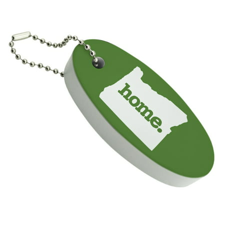 - Oregon OR Home State Solid Green Officially Licensed Floating Foam Keychain Fishing Boat Buoy Key Float