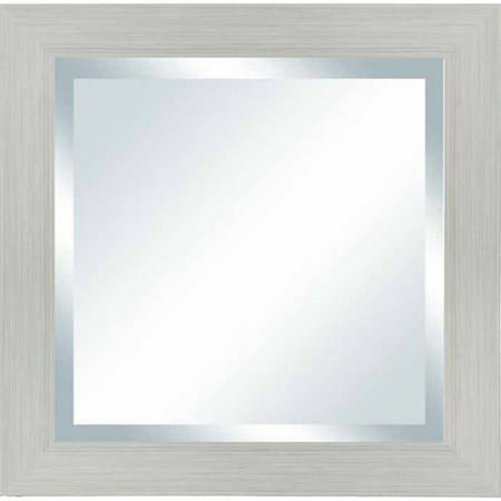 Better Homes & Gardens Sawyer White Square Beveled Wall Mirror - 20