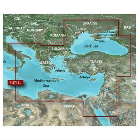 Garmin Bluechart g2 Vision HXEU717L Navigational s/w for East Mediterranean  & Black Sea Digital Map