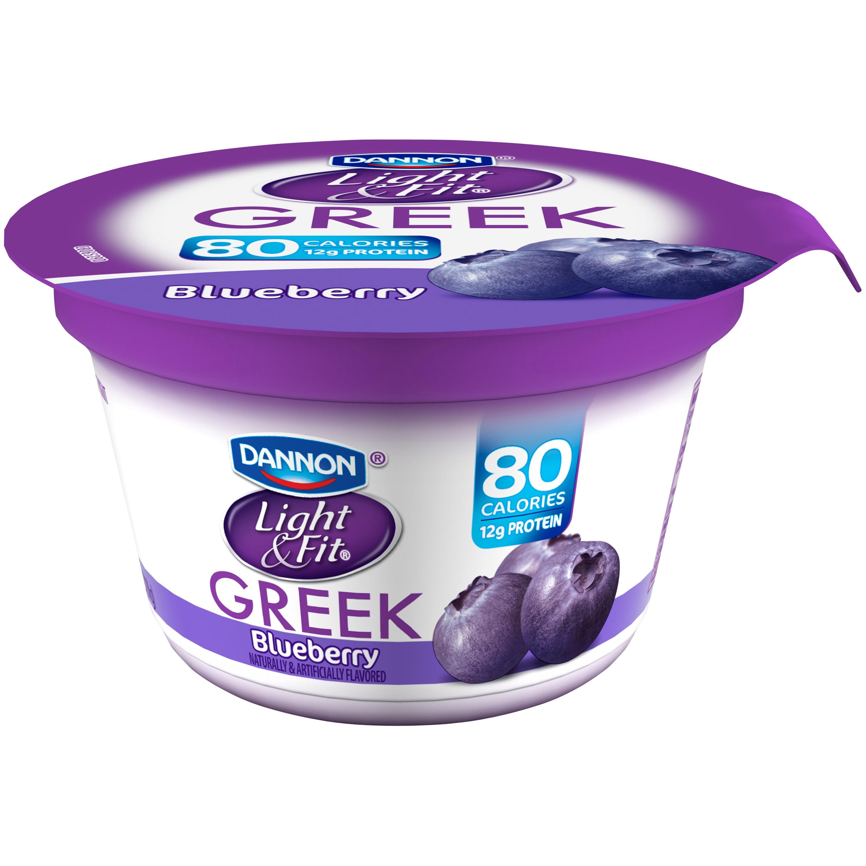 Dannon® Light U0026 Fit® Greek Blended Nonfat Yogurt Blueberry 5.3oz Single  Serve   Walmart.com