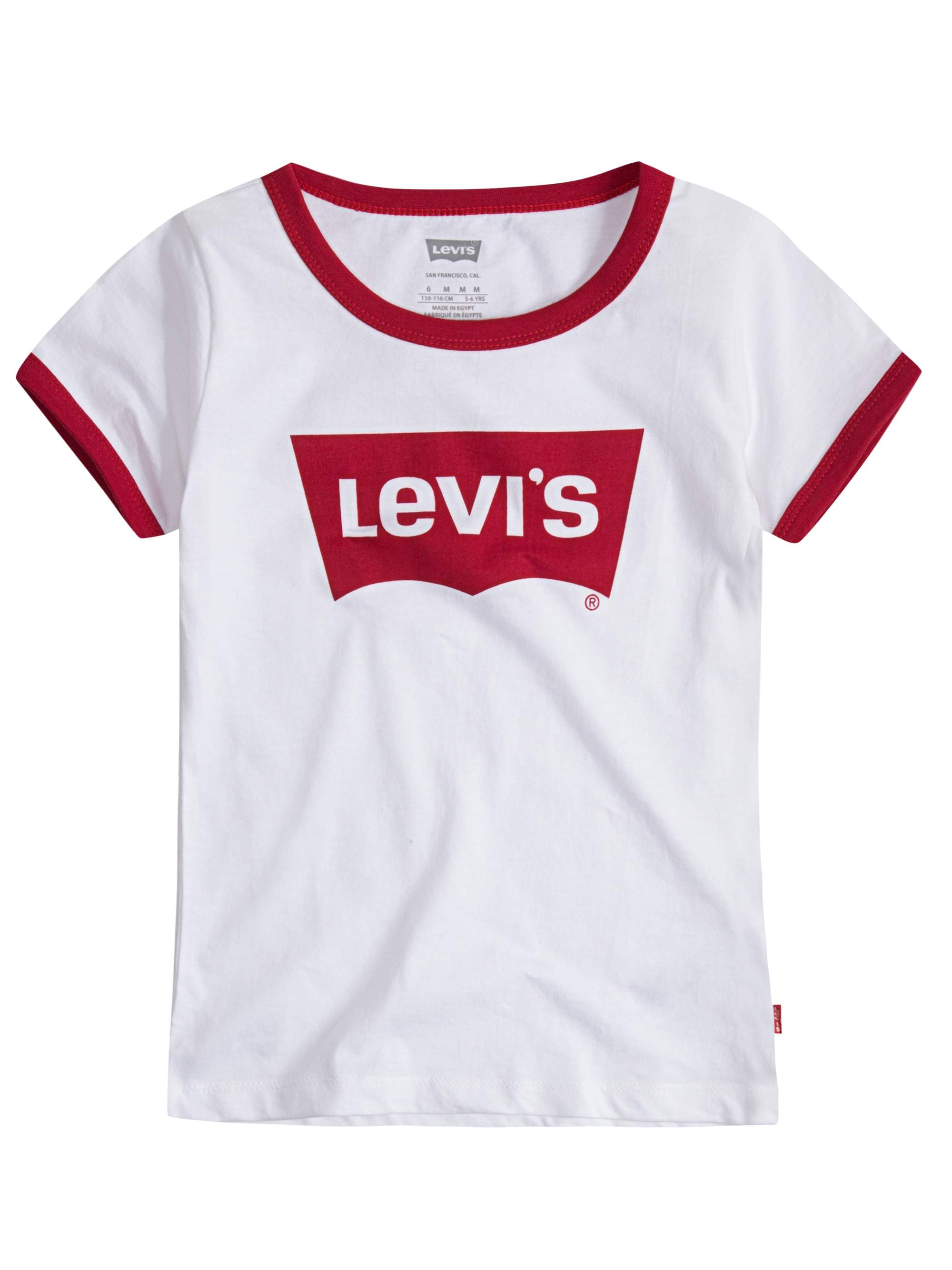 Levi's Batwing Logo Oversized Ringer Tee (Little Girls & Big Girls)